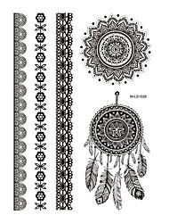 1 Tatuagem Adesiva Séries de Jóias Non Toxic / Estampado / Waterproof / hena / CasamentoFeminino / Adulto Flash do tatuagemTatuagens