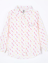 Girl's Casual/Daily Polka Dot BlouseCotton Fall White