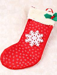 1pc Schneeflocke Weihnachten Strumpf Dekoration Süßigkeiten Tasche Geschenk Weihnachtsbaum Dekor
