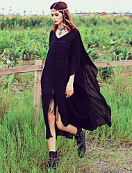 Aporia.As® Women's Round Neck 1/2 Length Sleeve Tea-length Dress-MZ01282