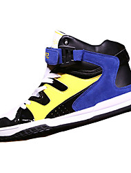 Herren-Flache Schuhe-Lässig-PU-Flacher Absatz-Rundeschuh-Blau / Rot