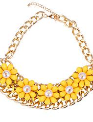 Ожерелье Ожерелья-цепочки Бижутерия Повседневные Мода Сплав Золотой 1шт Подарок