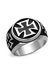 Stainless Steel Men Ring High polished (No plating) Black Jet Epoxy Bling Men's rings collection