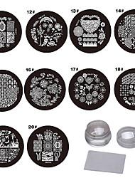 Nail Art Stamping Plate Stamper Scraper 9*9*6