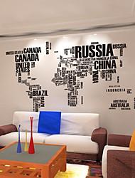 Palavras e Citações Wall Stickers Autocolantes de Aviões para Parede Autocolantes de Parede Decorativos,PVC Material Reposicionável