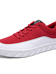Men's Shoes Athletic Fabric Fashion Sneakers Black / Red / Blue