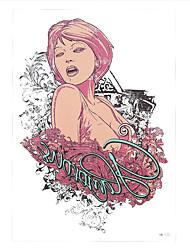 1pc Rose Flower Singer Beauty Women Opera House Flower Arm Body Art Temporary Tattoo Sticker HB-125