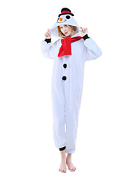NEWCOSPLAY Snow Man Polar Fleece Adult Kigurumi Pajama