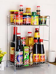 1PCS Cozinha Cozinha Aço Inoxidável Prateleiras e Suportes 41*17*32