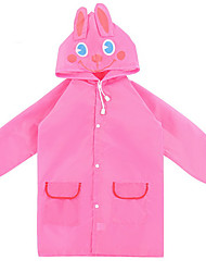 Red / Pink Raincoat Rainy Plastic Kids / Travel
