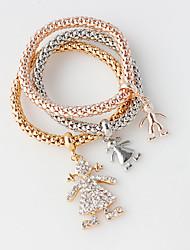 Bracelet Wrap Bracelet Alloy Circle Double-layer / Fashion Wedding / Party Jewelry Gift Gold,1set