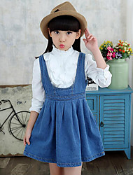 Girl's Casual/Daily Solid Jeans / Clothing Set,Cotton / Rayon Spring / Fall Blue
