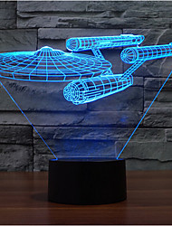 Star Wars Warship Touch Dimming 3D LED Night Light 7Colorful Decoration Atmosphere Lamp Novelty Lighting Christmas Light