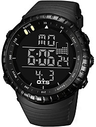 O.T.S Cool Black Mens Stylish Large Face LCD Digital Swimming Climbing Outdoor Men Sport Watches 7005