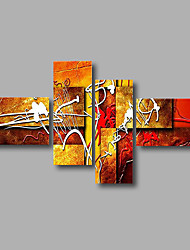 "Stretched (Ready to hang) Hand-Painted Oil Painting 68""x40"" Canvas Wall Art Modern Abstract White Orange"