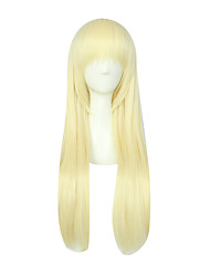 Cosplay Wigs Cosplay Cosplay Golden Long / Straight Anime Cosplay Wigs 80 CM Synthetic Fiber Female