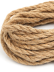 Beadia 6mm Natural Hemp Jute Cord For DIY Jewelry Craft Making (5Mts)