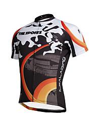 ILPALADINO Camisa para Ciclismo Homens Manga Curta Moto Blusas Secagem Rápida Resistente Raios Ultravioleta Respirável Macio Compressão