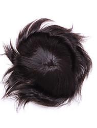 """6 """"* 8"""" pedaços de cabelo virgem humanos para homens toupee mono base de peruca peruca 6-8 polegadas"""