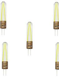 5pcs g4 2W cob filamento levou lampada luz led holofotes lustre de substituir a lâmpada incandescente (AC220-240V)