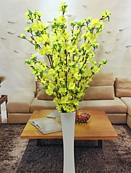 Hi-Q 1Pc Decorative Flowers Real For Wedding Home Table Decoration Peach BlossomArtificial Flowers