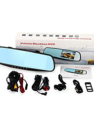 Ultra Wide Angle Dual Lens Rear View Mirror Driving Recorder HD 5 Inch 1080P Night Vision Reversing Image