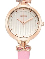 kezzi new arrvial bowknot leather ladies watches 1535