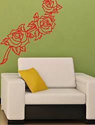 Botânico Wall Stickers Autocolantes de Aviões para Parede Autocolantes de Parede Decorativos,PVC Material ReposicionávelDecoração para