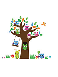 Animals Wall Stickers Tree Wall Stickers Kids Wall Stickers,Funny Vinyl Decals OWLS Wall Art