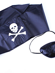 Pour Halloween Pirate Fête / Célébration Déguisement Halloween Noir Imprimé Coiffure Halloween Unisexe