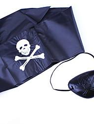 Halloween Props Pirate Festival/Holiday Halloween Costumes Black Print Headwear Halloween Unisex