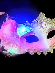 1pc conduit couleur aléatoire noël stade hallowmas de balle masque fancywork moderne lumière de nuit
