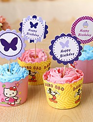 Cupcake Decorations Set 24Pcs Cupcake Toppers Party Birthday