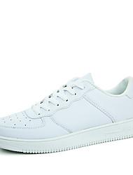 Da uomo-Sneakers-Casual / Sportivo-Ballerine-Piatto-Finta pelle-Nero / Rosso / Bianco
