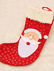 1pc Red Santa Claus Stocking Bag Tree Bed Hanging Decoration Outdoor Party Supplies Christmas Gift