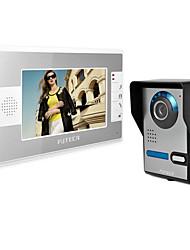 el timbre de intercomunicación inalámbrica visibles. 7 pulgadas a casa el timbre de la puerta. imágenes, monitoreo, vídeo, abrir la