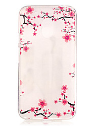 Plum blossom Pattern TPU Relief Back Cover Case for Moto G4 Play