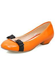 Homme-Mariage / Habillé-Noir / Rose / Blanc / Orange-Gros Talon-Confort / Bout Arrondi-Chaussures à Talons-Similicuir