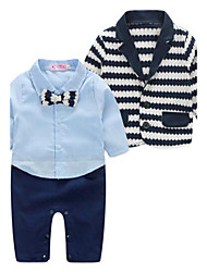 Boy's Casual/Daily Striped Overall & Jumpsuit / Clothing SetCotton Spring / Fall Blue