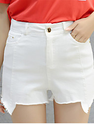 Women's Solid White Shorts Pants,Simple / Cute