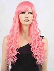lange steven Universum Rosenquarz Perücke rosa lockiges Haar volle Perücken