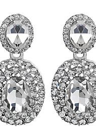 Women's Elegant Water Shape AAA Zircon Crystal Drop Earrings for Wedding Party, Fine JewelryImitation Diamond Birthstone