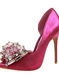 Women's Sandals  / Fall Heels Leatherette Casual Stiletto HeelRhinestone / Crystal / Feather / Bowknot / Applique /