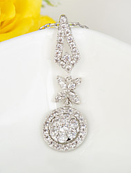 Women's Chain Necklaces Zircon Cubic Zirconia Fashion Silver Jewelry Wedding 1pc