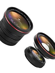 zomei® g2 0.6x ampio angolo di clip + 0.42x fisheye iphone lente per iphone / macchina fotografica smartphone Android
