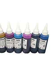 Eco - 1390 INK   ,A Pack Of 6Boxes, Each Box Different Colors,Black, Cyan, Magenta, Yellow, Light Blue, Light Red