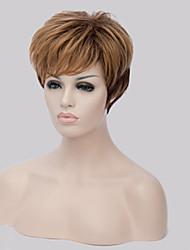 sem tampa mix cor extra peruca sintética curta de alta qualidade natural do cabelo em linha reta com estrondo lado