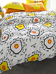 Brief style 4piece bedding sets print duvet cover Sets 100% Cotton Bedding Set Queen Size