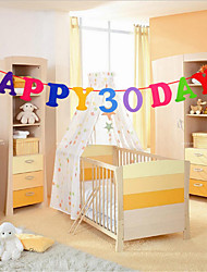 il bambino pieno banchetto luna doppio cento giorni lettera banchetto festa di compleanno decorazione di colore tessuto ornamenti