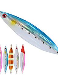 2pcs/lot Afishlure Slow Metal Plate Lead Jig 100g Fishing Lure Metal Jigging Spoon Deep Sea Fishing